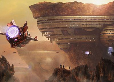 fantasy, outer space, futuristic, spaceships, artwork, 3D - desktop wallpaper