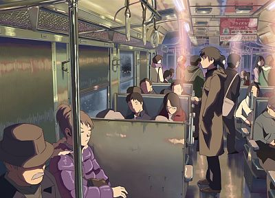 trains, Makoto Shinkai, lonely, 5 Centimeters Per Second, vehicles, train car, railroad car - related desktop wallpaper