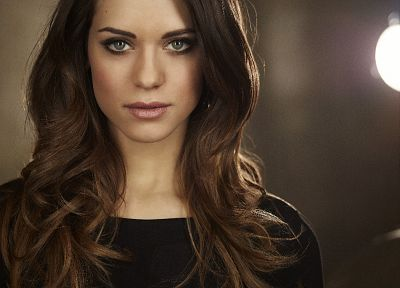 brunettes, women, actress, celebrity, Lyndsy Fonseca - random desktop wallpaper