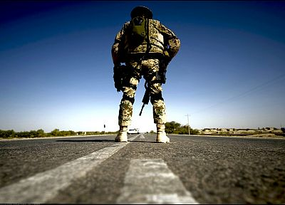 soldier, Afghanistan, roads, Bundeswehr - random desktop wallpaper