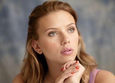 blondes, women, Scarlett Johansson, actress, portraits - desktop wallpaper