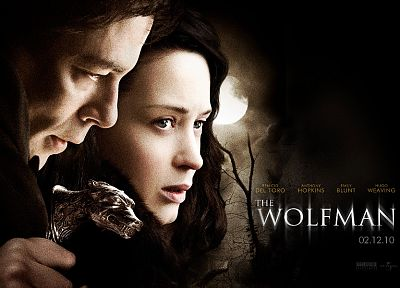 movies, Emily Blunt, Benicio Del Toro, The Wolfman - random desktop wallpaper