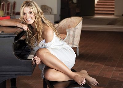 blondes, women, dress, Delta Goodrem - desktop wallpaper