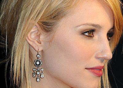 women, actress, Glee, Dianna Agron, earrings - random desktop wallpaper