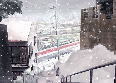 snow, cityscapes - random desktop wallpaper