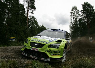cars, Ford, rally, rally cars, Ford Focus WRC, racing cars - random desktop wallpaper