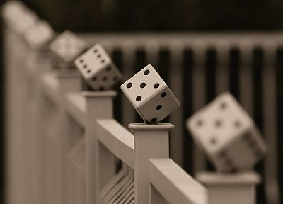 fences, dice, picket fence - random desktop wallpaper