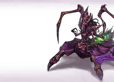 video games, Zerg, Queen, artwork, StarCraft II - related desktop wallpaper