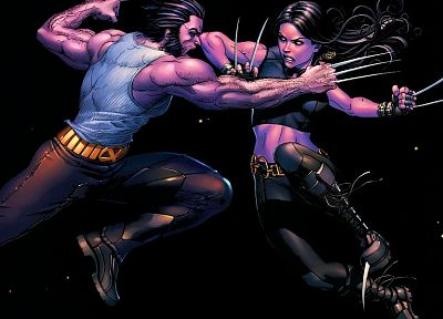 comics, X-Men, Wolverine, Marvel Comics, X-23 - desktop wallpaper