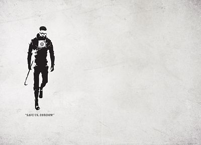 video games, Half-Life, glasses, Gordon Freeman, crowbar, bodysuits, artwork, men with glasses - related desktop wallpaper