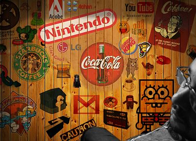 Nintendo, Coca-Cola - random desktop wallpaper