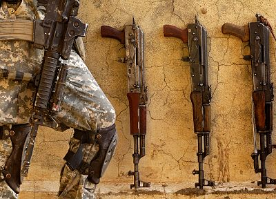 soldiers, guns, US Army - related desktop wallpaper