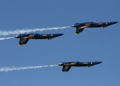 aircraft, military, planes, vehicles, blue angels, F-18 Hornet - related desktop wallpaper