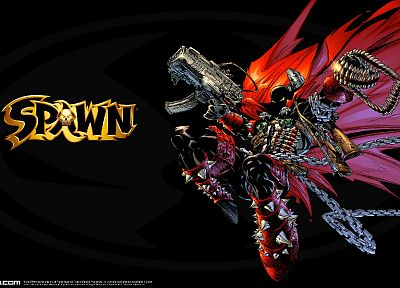 black, dark, Spawn, Todd McFarlane - random desktop wallpaper