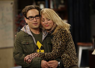 The Big Bang Theory (TV), Kaley Cuoco, Leonard Hofstadter, Johnny Galecki - random desktop wallpaper