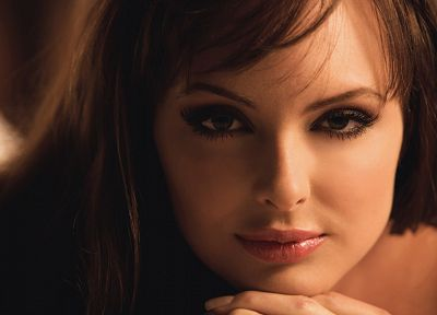 brunettes, women, Shera Bechard, faces - random desktop wallpaper