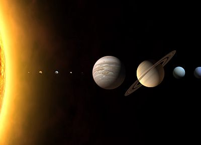 Sun, outer space, Solar System, planets, astronomy - related desktop wallpaper