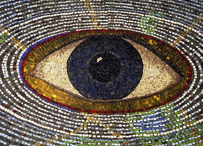 eyes, mosaic - related desktop wallpaper