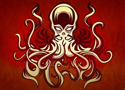 Cthulhu, HP Lovecraft, artwork - desktop wallpaper