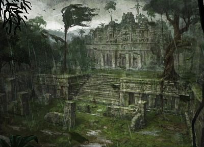 ruins, Tomb Raider, fantasy art - desktop wallpaper