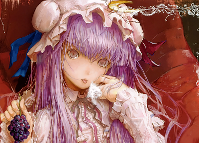 Touhou, Fuyuno Haruaki, Patchouli Knowledge - random desktop wallpaper