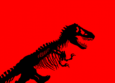 red, dinosaurs, Jurassic Park, Tyrannosaurus Rex, simple background - desktop wallpaper