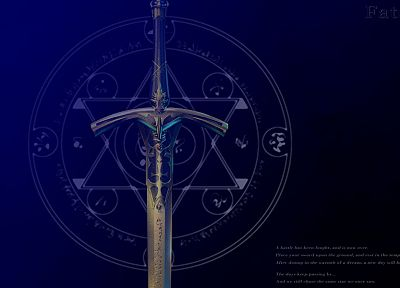 Fate/Stay Night, Excalibur, swords, Fate series - random desktop wallpaper