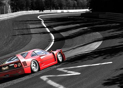 video games, cars, Ferrari F40, Gran Turismo 5, Playstation 3 - related desktop wallpaper