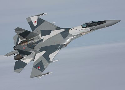 aircraft, military, planes, Su-27 Flanker - desktop wallpaper