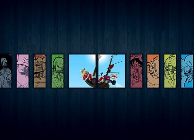 One Piece (anime), Nico Robin, Roronoa Zoro, Franky (One Piece), Tony Tony Chopper, Brook (One Piece), Monkey D Luffy, Nami (One Piece), Usopp, Sanji (One Piece) - related desktop wallpaper