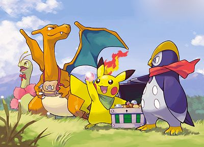 Pokemon, Pikachu, Charizard - random desktop wallpaper