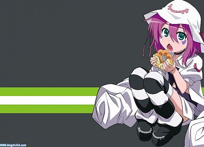 donuts, Yumekui Merry, Merry Nightmare, striped legwear - related desktop wallpaper