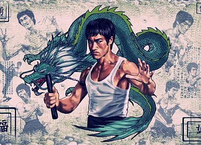 Bruce Lee, dragons, vintage, Chinese, posters - related desktop wallpaper