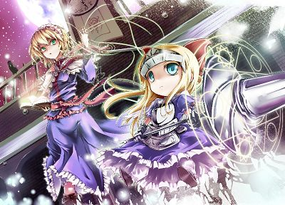 blondes, video games, Touhou, short hair, Alice Margatroid, anime girls, hair band - related desktop wallpaper