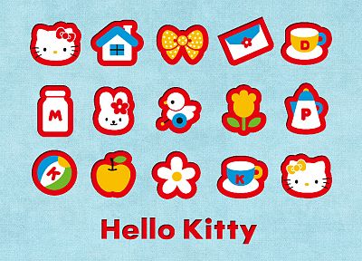 Japan, Hello Kitty, logos - random desktop wallpaper