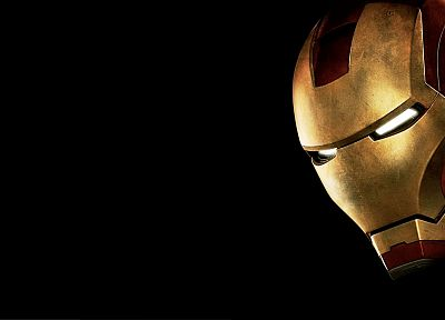 Iron Man, movies, comics, armor, Marvel Comics, black background - desktop wallpaper