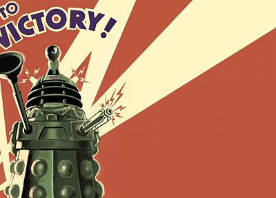 Dalek, propaganda, Doctor Who, posters - desktop wallpaper