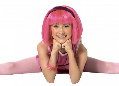 Lazytown, pink hair, headbands, Julianna Rose Mauriello, pink dress, hair band - random desktop wallpaper