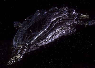 outer space, Stargate Atlantis, spaceships, vehicles, Wraith - related desktop wallpaper