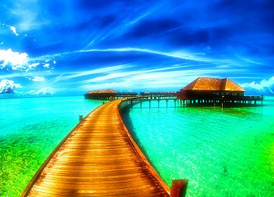 landscapes, piers, cabin - desktop wallpaper