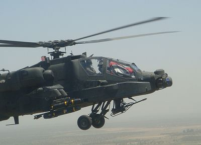 aircraft, helicopters, vehicles, AH-64 Apache - desktop wallpaper