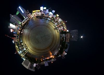 cityscapes, buildings, panorama circle - random desktop wallpaper