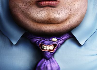 tie, fat, funny, photo manipulation - related desktop wallpaper