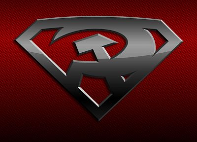 DC Comics, Superman, Red Son Superman, Superman Logo - random desktop wallpaper
