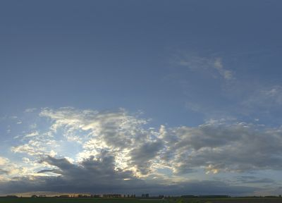 sunset, clouds, landscapes, Sun, panorama, skyscapes - related desktop wallpaper