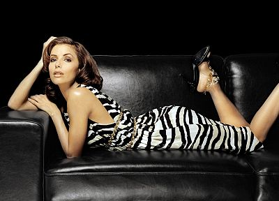 brunettes, legs, women, dress, Eva Longoria, celebrity, brown eyes, high heels - desktop wallpaper