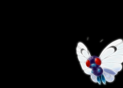 Pokemon, Butterfree, black background - random desktop wallpaper