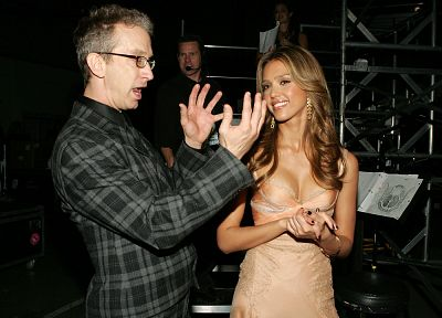 Jessica Alba, Andy Dick - random desktop wallpaper