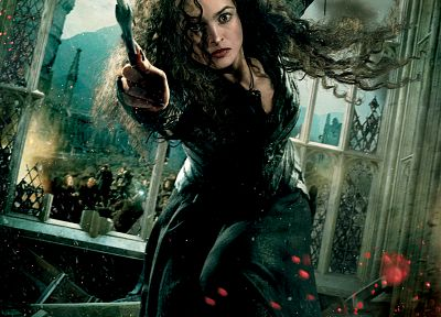 Harry Potter, Helena Bonham Carter, Harry Potter and the Deathly Hallows, movie posters, Hogwarts, Bellatrix Lestrange, Death Eaters - random desktop wallpaper