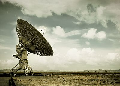 New Mexico, radar dish, Very Large Array - random desktop wallpaper